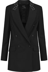 Mcq By Alexander Mcqueen Embellished Wool And Mohair Blend Jacket Black