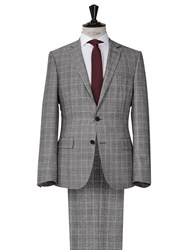 Reiss Breburn Check Wool Suit Charcoal
