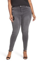 Mblm By Tess Holliday Plus Size Women's Ripped Stretch Skinny Jeans Medium Grey Denim