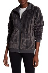 The North Face W Faux Fur Jacket Gray