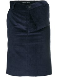 Y Project Corduroy Style Skirt Blue