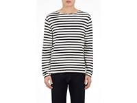 R 13 R13 Men's Breton Striped Cotton T Shirt White Black White Black