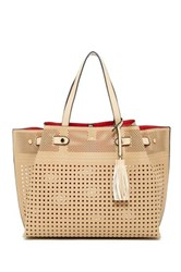 Urban Expressions Cadence Perforated Tote Bag Beige