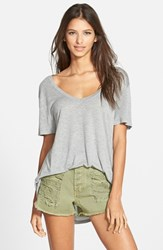 Women's Leith Deep V Tee Grey Medium Heather