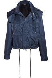 Versus By Versace Hooded Shell Jacket Navy