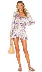 Beach Riot X V. Chapman Lotus Wrap Dress In Purple. Floral