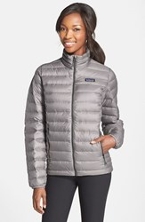Women's Patagonia Packable Down Sweater Jacket Feather Grey