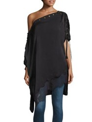 Faith Connexion Eyelet Silk Lace Tunic Black