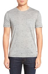 John Varvatos Men's Star Usa Burnout Trim Fit T Shirt Lt. Grey Heather