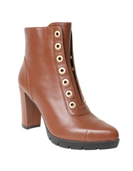 William Rast Carly Grommet Ankle Boots Cognac
