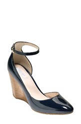 Cole Haan Women's Lacey Wedge Marine Blue Patent Leather