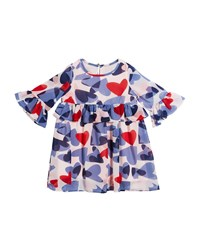 Kate Spade Confetti Heart Long Sleeve Dress Multi