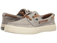 Sperry Crest Resort Canvas Two Tone Ivory Grey Women's Lace Up Casual Shoes Gray