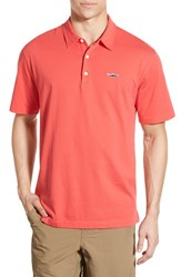 Men's Patagonia 'Trout Fitz Roy' Organic Cotton Polo Shock Pink