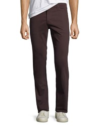 Ag Adriano Goldschmied Everett Slim Straight Twill Pants Rich Carmine