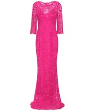 Dolce And Gabbana Lace Gown Pink