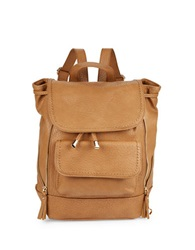 Kensie Zip Accent Faux Leather Backpack Butterscotch