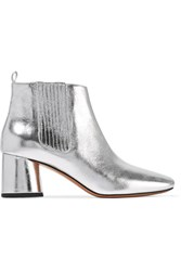 Marc Jacobs Rocket Metallic Leather Chelsea Boots Silver