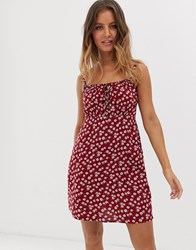 Hollister Summer Dress In Ditsy Floral Multi