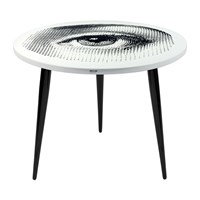 Fornasetti Occhio Table With Wooden Legs 060Cm