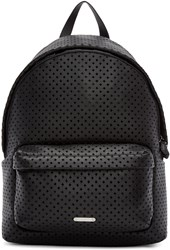 Givenchy Black Perforated Leather Backpack
