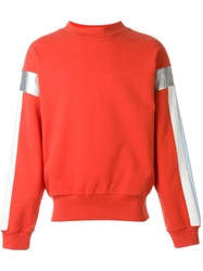 Gosha Rubchinskiy Contrasted Sleeve Sweatshirt Red