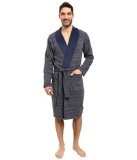 Ugg Robinson Shawl Collar Robe Navy Heather Men's Robe Gray