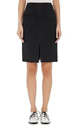 Proenza Schouler Women's Satin Trimmed Crepe Pencil Skirt Black