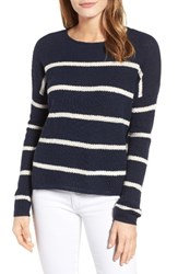 Velvet By Graham And Spencer Women's Stripe Cashmere Sweater