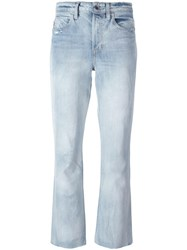 Helmut Lang High Rise Cropped Jeans Blue