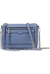 Rebecca Minkoff Avery Textured Leather Shoulder Bag Blue