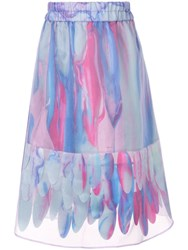 Paskal Abstract Print A Line Skirt Multicolour
