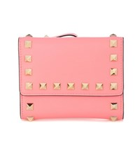 Valentino Garavani Rockstud Leather Wallet Pink
