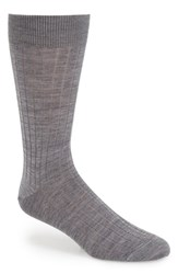 Men's John W. Nordstrom Ribbed Wool Blend Socks Grey Light Grey Heather