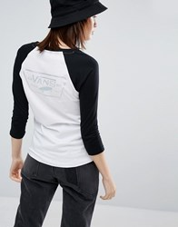 Vans Authentic Raglan Top With Holographic Logo White