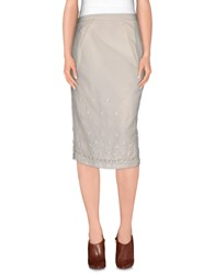 Manila Grace Skirts 3 4 Length Skirts Women Ivory