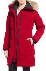 Canada Goose Women's 'Shelburne' Slim Fit Genuine Coyote Fur Trim Down Parka Red