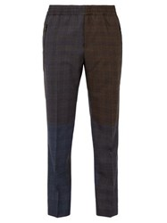 Stella Mccartney Checked Wool Trousers Brown Multi