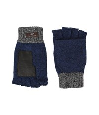 Ugg Marled Flip Mittens Navy Multi Extreme Cold Weather Gloves Blue