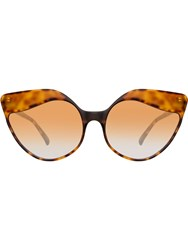 Linda Farrow Cat Eye Sunglasses Brown