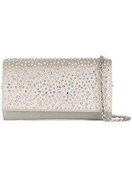 Rodo Crystal Embellished Clutch White