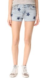 Rails Logan Stars Shorts Medium Wash Stars