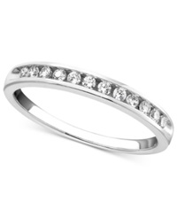 Macy's Diamond Band Ring In 14K White Gold 1 4 Ct. T.W.