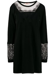 Twin Set Lace Panel Jumper Dress Black