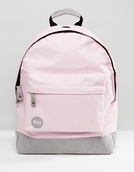 Mi Pac Classic Backpack In Blush Pink And Grey Blush Pink Grey