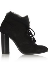 Pedro Garcia Barbara Goat Hair Lined Suede Boots Black