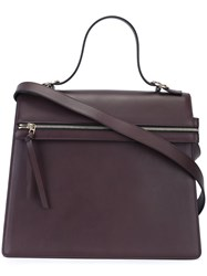 Victoria Beckham Flap Shoulder Bag Pink And Purple