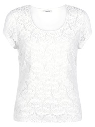 Precis Petite Pleated Lace Top Ivory