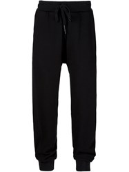 11 By Boris Bidjan Saberi Embroidered Drop Crotch Track Trousers Black