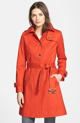 Women's Pendleton 'Pacific Crest' Single Breasted Trench Coat Paprika